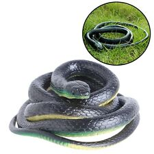 130Cm Real Rubber Toy Fake Snake Safari Garden Prop Joke Prank Halloween Gift