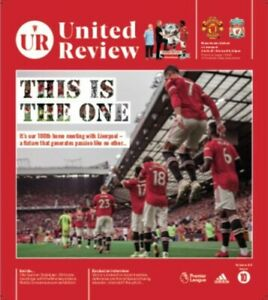 Manchester Man Utd United vs Liverpool 2021/22 FA Premier League Programme