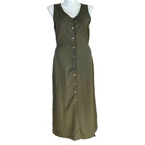 Directives Dress Olive Green Size XL Lyocell Jumper Fit Comfort Button NWT