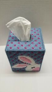 Tissue Box Cover-  Bunnies-Easter