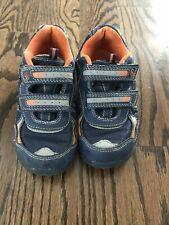 Stride Rite Bronco Boys Shoes Size 12.5 Navy/ Orange