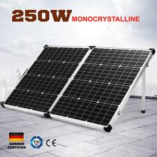 250W 12V Solar Panel kit Generator Power Mono Caravan Camping Battery Charging