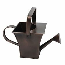 """GiftBay Watering Can,Metal/Dual Handle 7"""" High,0.6 Gallon, Antique Copper Finish"""