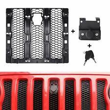 Hood Lock Catch Bracket Latches Buckle Kit w/ Lock Grille For Jeep Wrangler JL