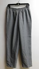 Womens size 12 pants Grey pullon casual dress Polyester White Stag