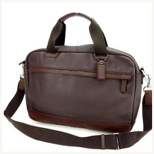 Coach Business bag Brown Mens Authentic Used Y628