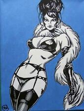 Nude Pop Art Original Oil Painting by Terry P Wylde : The Beehive Broad