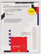 Automaatstroken Klussendorf 1991 POSTFRIS  in JAARMAPJE CARNET