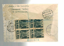 1944 Warsaw Poland Egyptian Censored Cover to Red Cross Switzerland