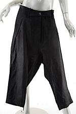 RUNDHOLZ Black 100% Genuine  Caf LEATHER Button Fly Pant - FABULOUS - Sz S