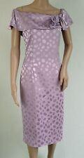 Vintage 1980s ZAKO lilac polka dot cold shoulder wiggle dress 40 12/14