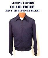 US AIR FORCE MEN'S 38R USAF JACKET w/ LINER LIGHTWEIGHT SERVICE DRESS BLUE NOS