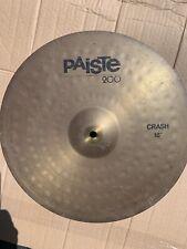 "Free P&P. A 16"" Paiste 200 Crash Cymbal. 16"""