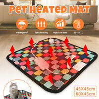 Large Pet Heat Pad Puppy Electric Heated Warm Blanket Dog Cat Whelping Bed