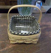 Longaberger Tarragon or Coaster Tote Basket Liner Only - Khaki Check - New Read
