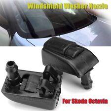 2x Front Windshield Washer Nozzle Spray Jet Plastic For Skoda Octavia 1Z0 955 98