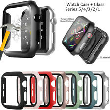 Cover for Apple Watch Series 5 4 3 2 iWatch Bumper PC Hard Case Screen Protector