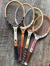 Vintage  Wooden Tennis Rackets Poncho Gonzales Dunlop Maxply Bancroft Wilson