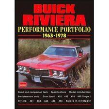 Buick Riviera Performance Portfolio 1963-1978 book paper