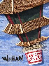 ART PRINT POSTER TRAVEL WUHAN CHINA NOODLE ARCHITECTURE COLLAGE NOFL1411