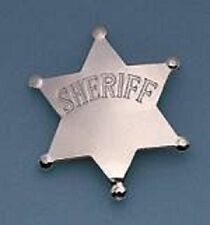 Novelty Sheriff Star Badge - Silver - Nice for a Halloween Costume