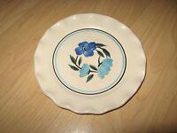 "Stangl Pottery Plate - Vintage Flower Pie Crust 6"" Trenton RI Bread Plate w/chip"