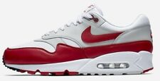Men's Nike Air Max 90/1 OG White University Red Shoes -Size 7.5 -AJ7695 100 -New