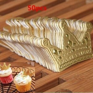 50 pcs princess crown cake topper accessories party cupcake decoration tool