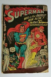 Superman #199 (Aug 1967, DC COMICS) Superman vs Flash Race