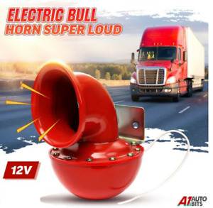 Electric Bull Horn Red Air Horn Loud12v Raging Sound For Car Truck Van