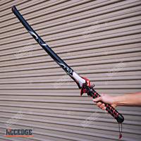 "43"" Overwatch Oni Genji Dragonblade METAL SAMURAI SWORD Cosplay LARP Comic Con"