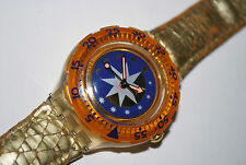 Vintage Swatch Watch Scuba 200 SDK 112 GOLDEN ISLAND 1993 Unisex Swiss Quartz