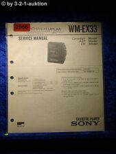 Sony Service Manual WM EX33 Cassette Player (#2066)