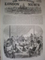 The Club Room Wimbledon national rifle association 1864 old print and article