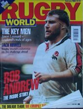 RUGBY WORLD MAGAZINE FEBRUARY 1996 EDINBURGH ACCIES WOMEN, CHELTENHAM YOUTH