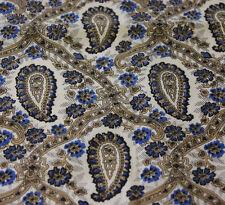 Vintage Paisley Handkerchief Classic Blue Gold White