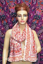 Dupata Stole Scarf Gift Indian Hand Block Print Fabric Women Cotton Long Sarong