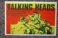 Talking Heads Concert Poster 1980 Paris
