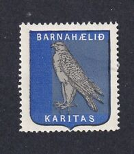 Iceland Scarce Poster Stamp 1909  KARITAS CARITAS CHILDREN AID CHARITY