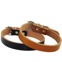 Pet Dog Collars Leather Puppy Leash Neck Strap Traction Rope Cowhide Adjustable