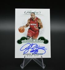 2018-19 Panini Flawless Alonzo Mourning Auto /5 Emerald Miami Heat