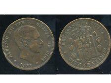 ESPAGNE 10 centimos 1877  ( bis )