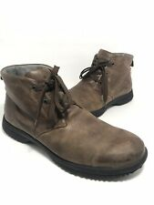 Bogs Mens Boots H2O Grip Brown Size 11.5 Lace Up