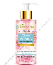 Bielenda Rose Care Cleansing Face Oil Anti-Age Hyaluronic Acid Sensitive Skin