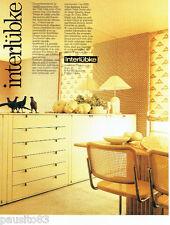 PUBLICITE ADVERTISING 096  1980   Les meubles Interlubke salle à mager medium
