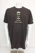 Hold On To Your Handlebars Next Level Mustache T-Shirt Brown Cotton Men's XXL
