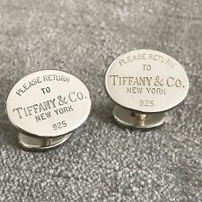 Please Return to Tiffany & Co Oval Cufflinks Cuff Links