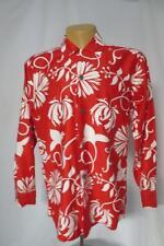 Vtg Loop Collar Long Sleeve Hawaiian Casuals Honolulu STAN HICKS Shirt Large Mod