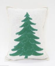 BALSAM FIR PILLOW embroidered GREEN PINE TREE Paine's pine scent potpourri