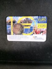 Nederland 2 euro 2012 10 jaar euro in coincard BU